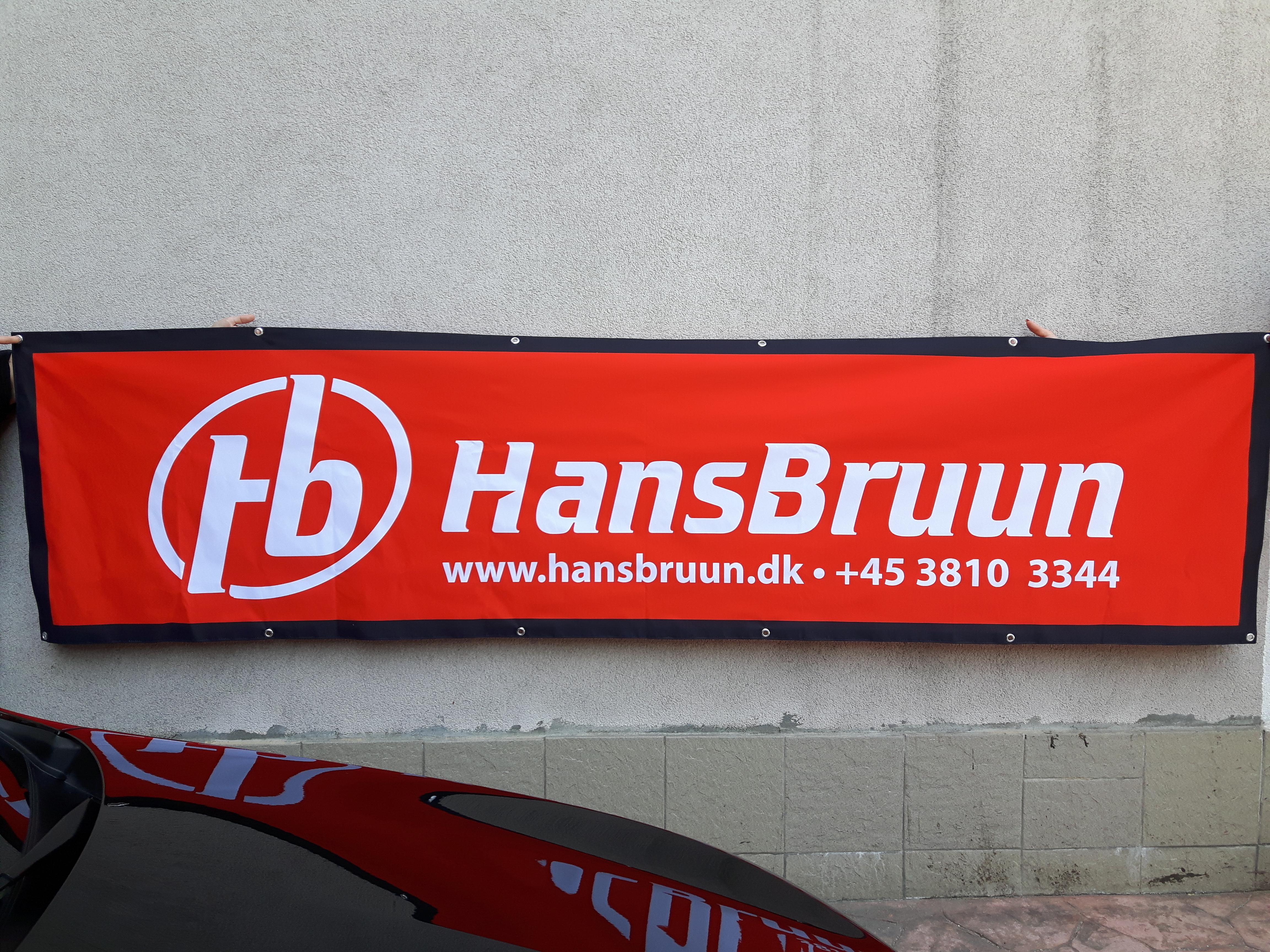 Hans Bruun textile banner