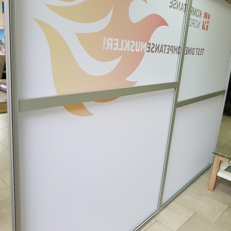 Textile promo wall