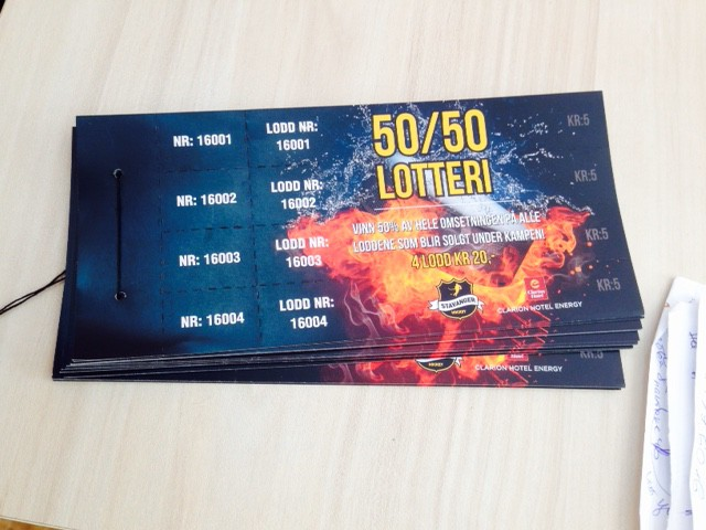 50/50 Lotteri tickets