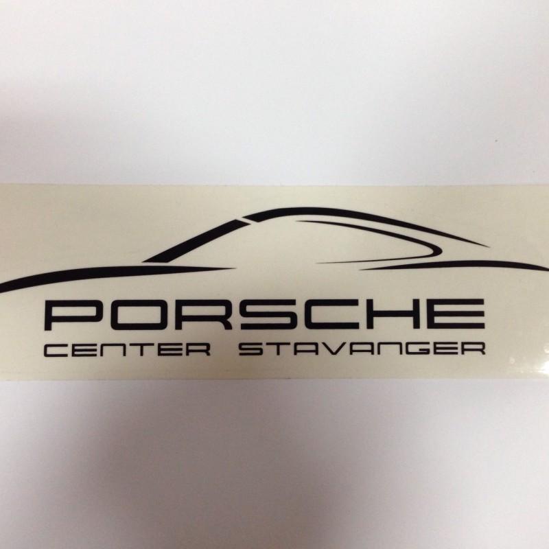 Porsche Center Stavanger sticker