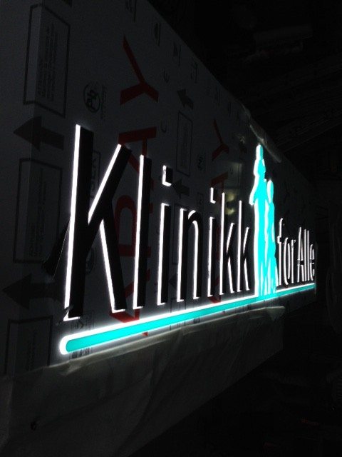 Klinikk for Alle LED sign