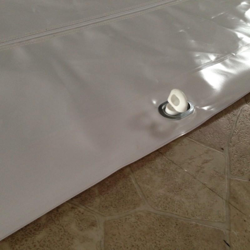 Track size curtain mounting