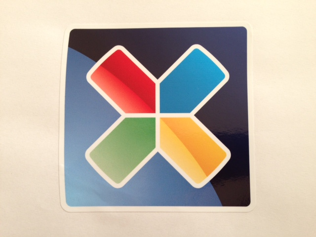 Mirror printed PVC sticker with application tape