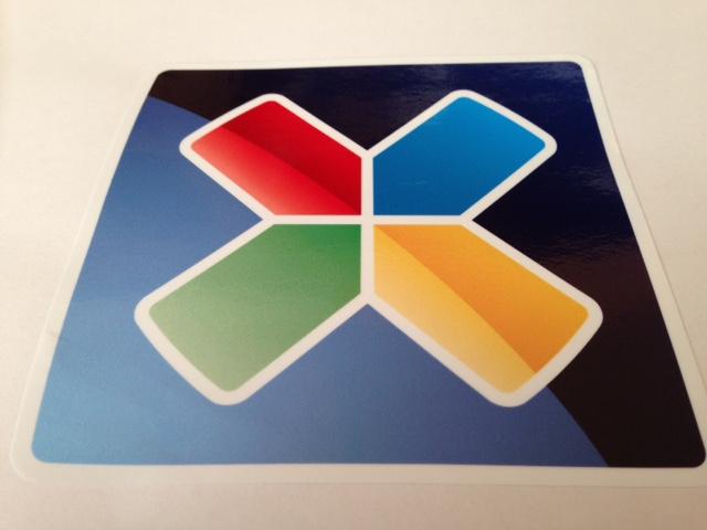 Mirror printed PVC sticker