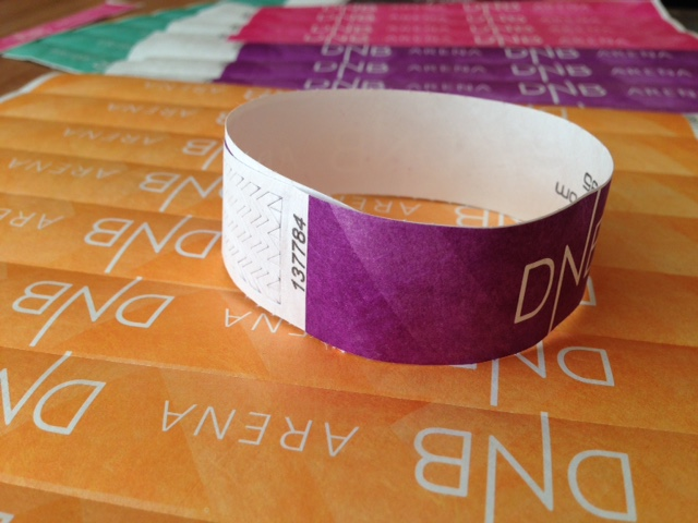 DNB Arena wristband tickets