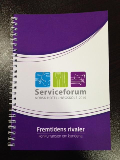 Serviceforum 2015A4 notebook with white spiral