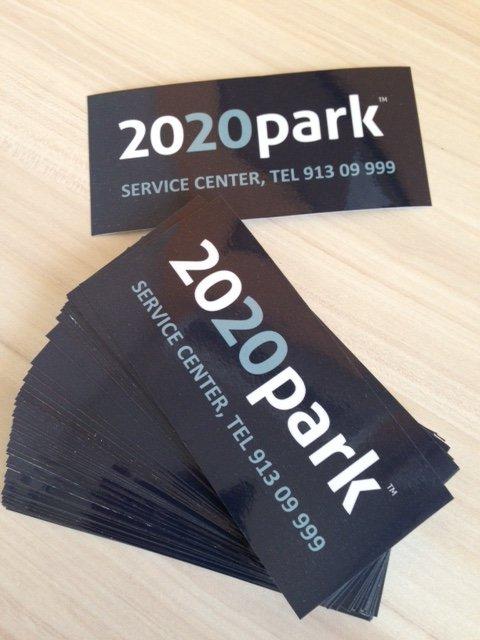 2020 park paper stickers