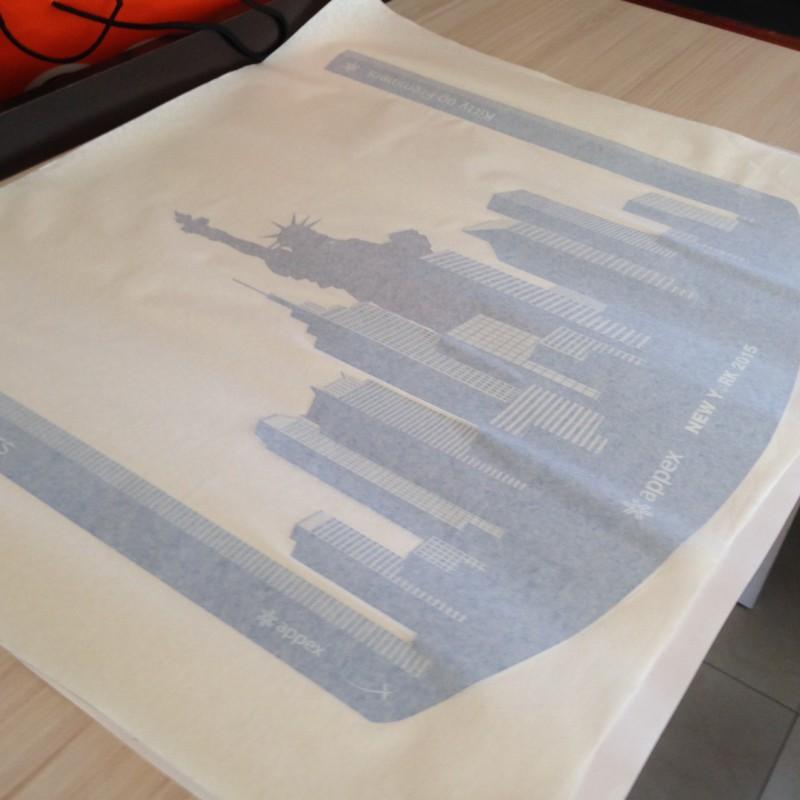 Cast PVC foil - contour cut, cleaned + application tape.