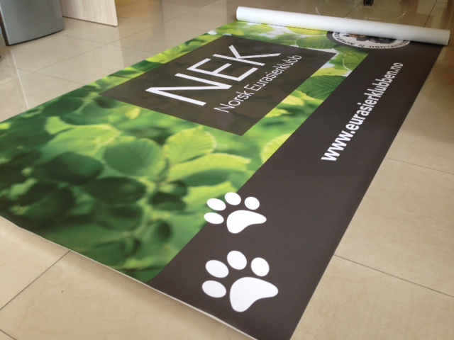 450 gsm scrim banner cast, printed 1440 x 1440 dpi eco-solvent inks