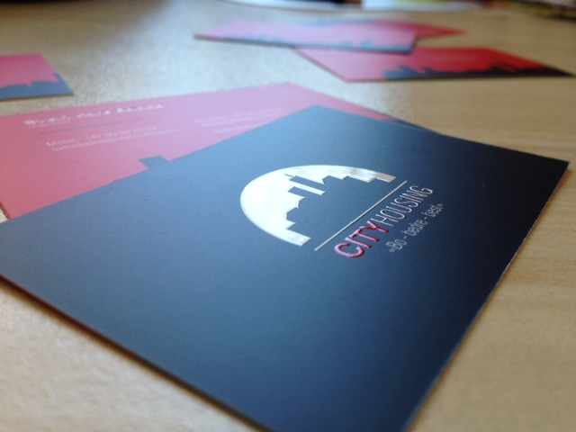 350 gsm matt paper, printed 4+4 CMYK, double-sided matt laminate and double-sided partial volume UV varnishing. Size: 9 x 5 cm