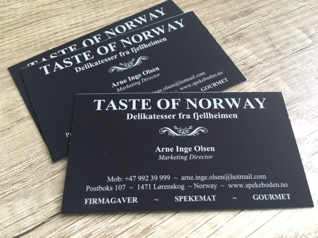 Taste of Norway business cards