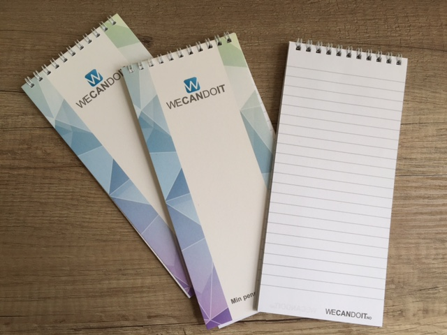 90 gsm body paper, 250 gsm cover paper, print 4 + 4 CMYK