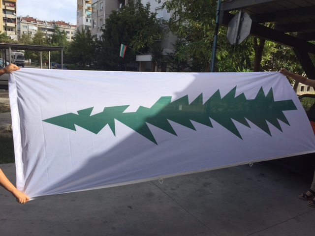125 gsm polyester textile, 3 cm diameter tunnel on upper side, D-rings and hook Size: 100 x 290 cm