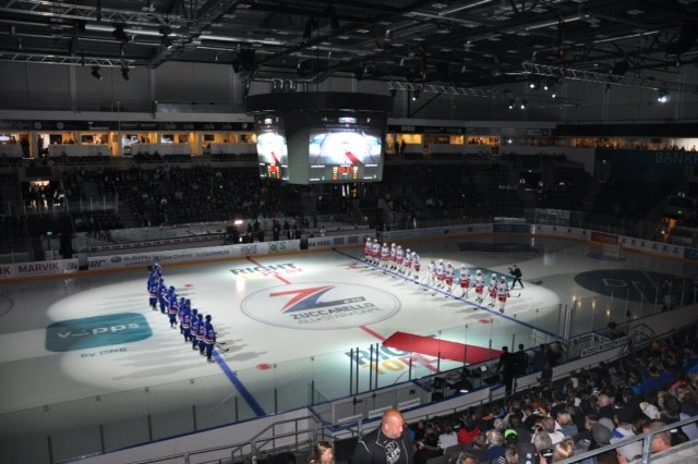 Hockey arena banners