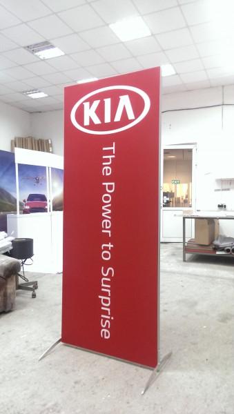KIA promo wall
