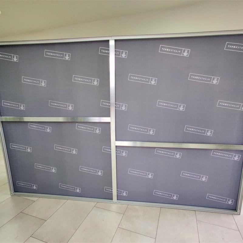 Planetvakst frameless wall