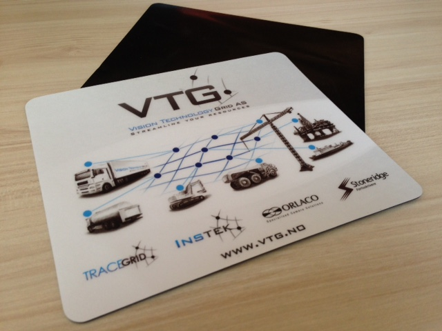 1 mm rubber pasted with 240 gsm offset CMYK printed cardboard and 250 micr. laminate. Size: 23 x 19.5 cm