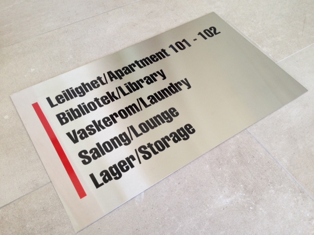 1.5 mm brushed stainless steel with coloured monomeric PVC foil