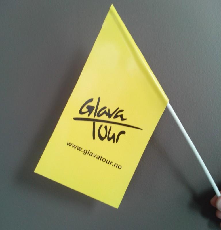 Flag size: 20 x 30 cm. Pole size: 45 cm