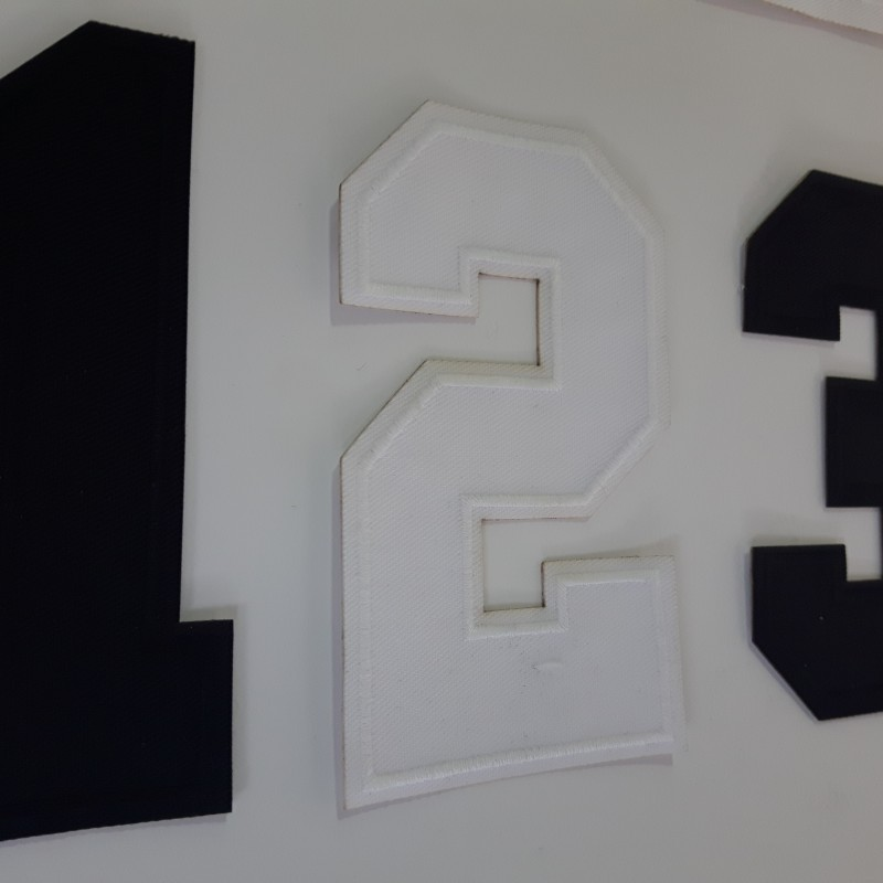 Embroidered numbers