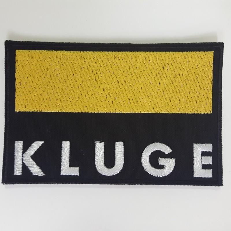 Kluge embroidered logo