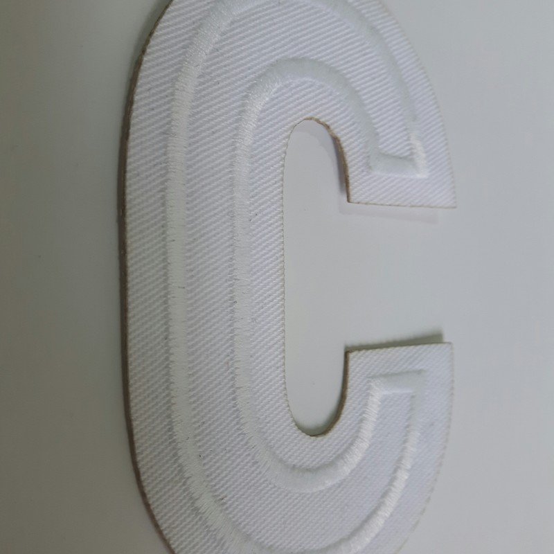 Embroidered letter
