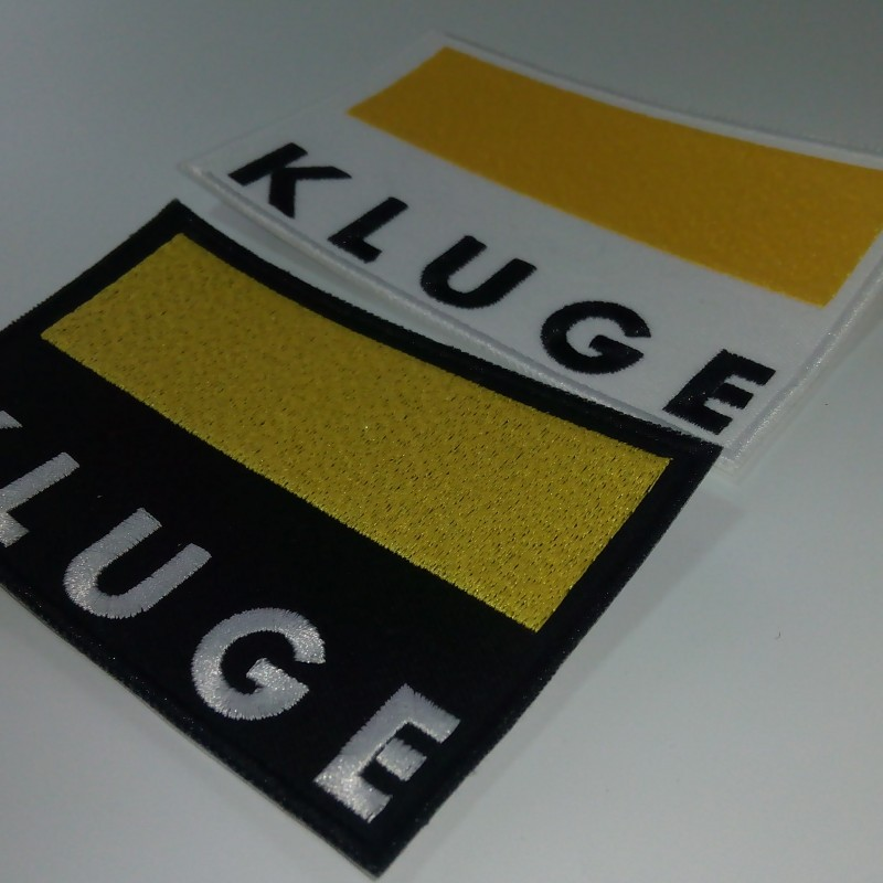 Kluge embroidered logos