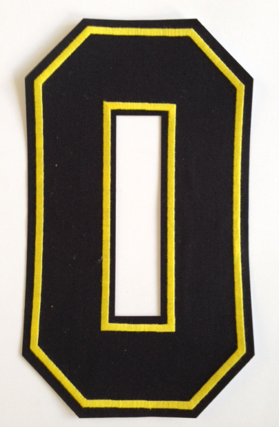 Embroidered number