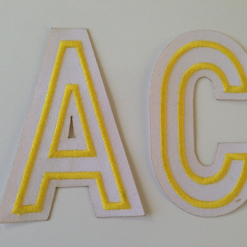 Embroidered letters