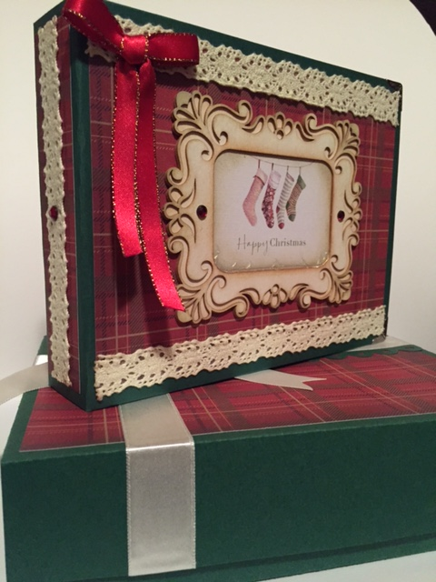 Christmas memory book + box