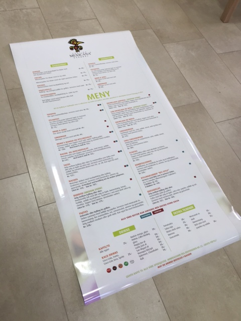 white removable PVC foil, 1440x1440 dpi eco-solvent printed, cut to size 91x174.5 cm