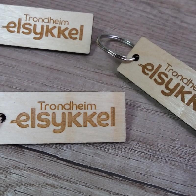 Elsykkel wooden key holder