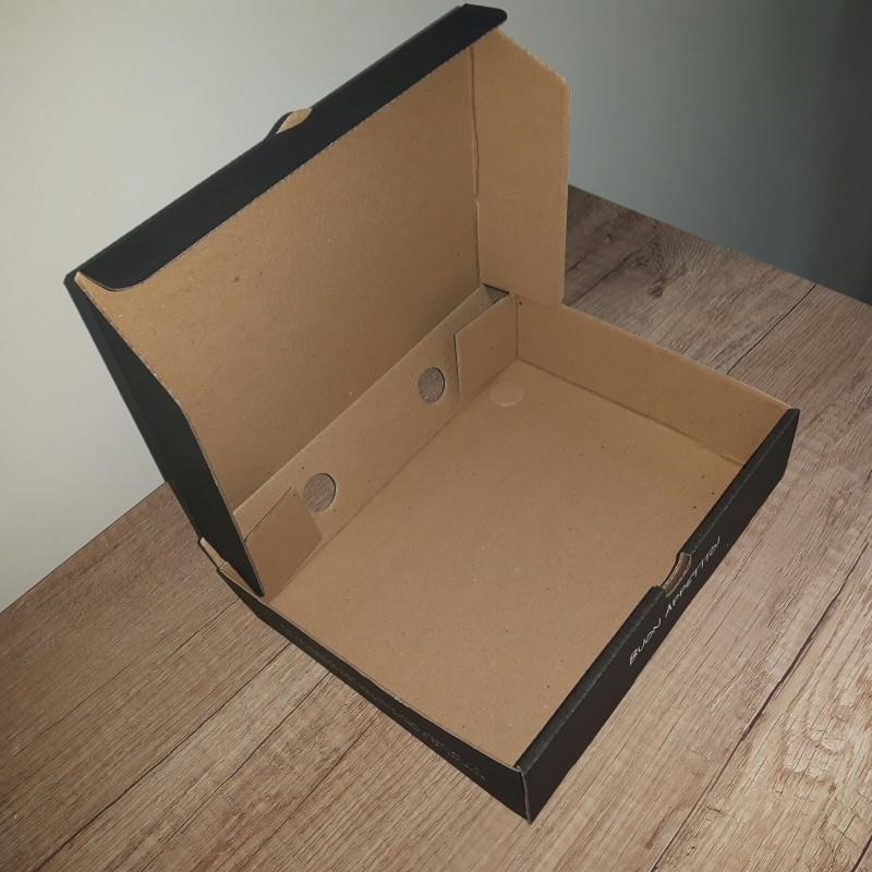 3-layer corrugated cardboard, print 1 + 0 Size: 30 x 30 x 3.5 cm