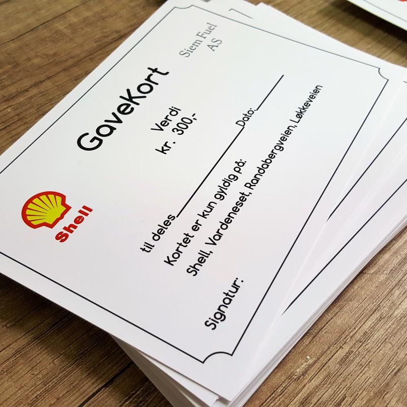 300 gsm matt paper, print 4 + 0 CMYK. Size: A6