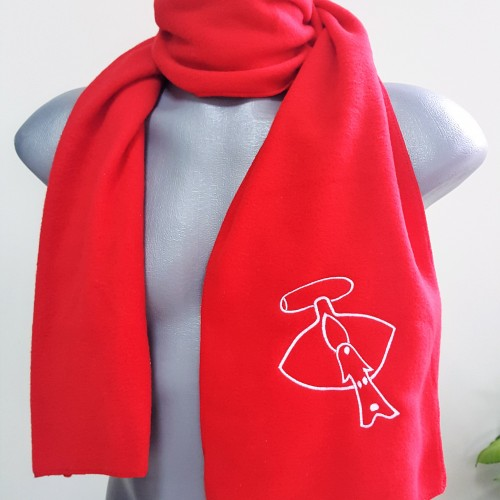 100% polyester /fleece/, embroidered logo 8 x 12 cm. Size/: 150 x 25 cm