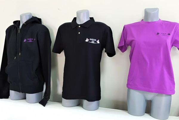 Radicat sweat jacket, polo shirt and t-shirt