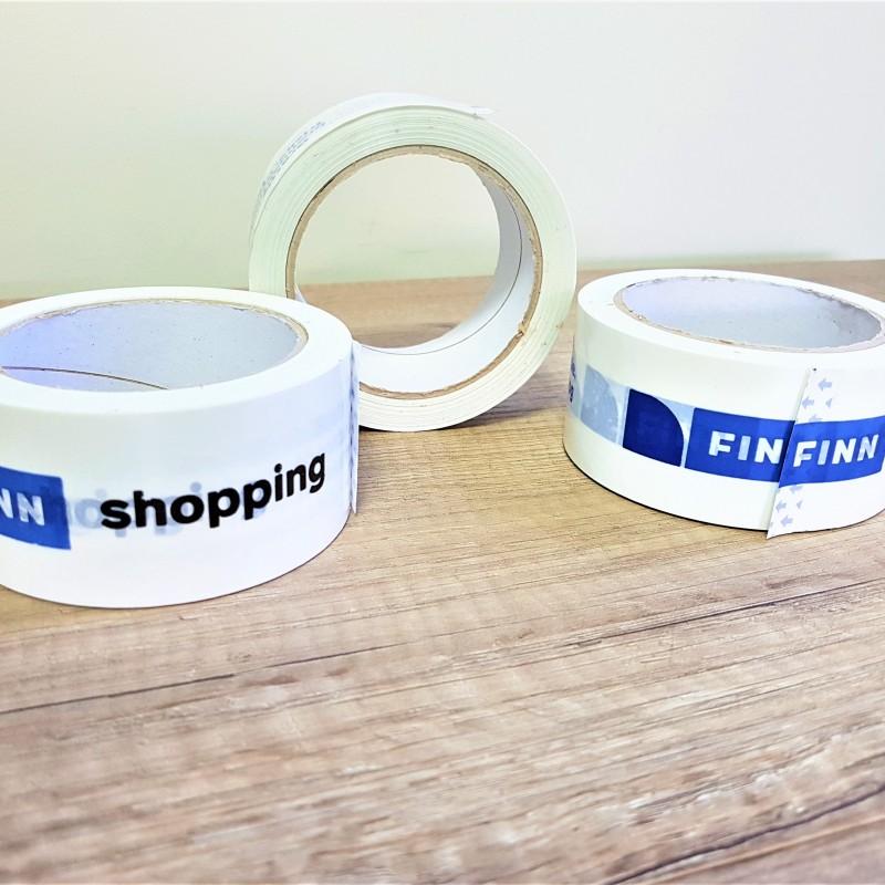 PVC glue, 2 colors printed logo Size: 50 mm x 66 m