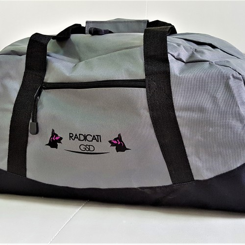 Sturdy grey polyester, 2 colors logo on 1 position. Size: 68 x 20 x 31 cm