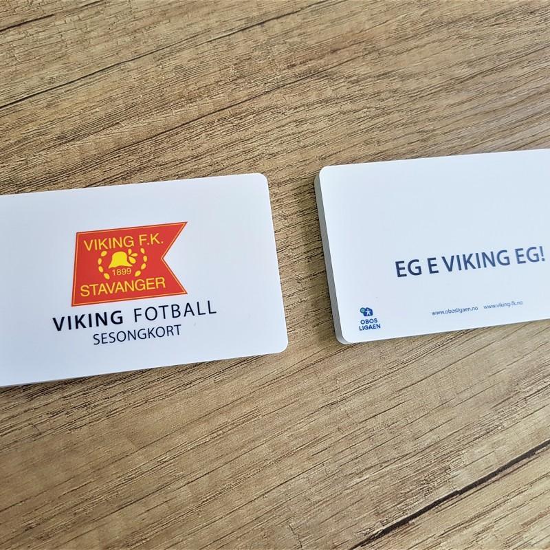 0.76 mm PVC, printed 4 + 4 CMYK, matt laminate both sides Size: 86 x 54 mm