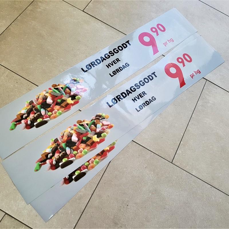 monomeric PVC matt foil, printed 1440 dpi Eco Solvent. Size: 97.5 x 16 cm
