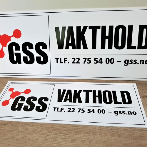 1.5 mm white PVC, silk-screen printed in 2 colors