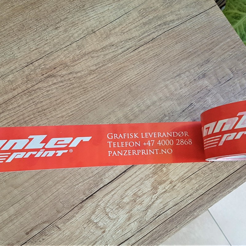 PVC tape, printed in 1 color Size: 50 mm x 66 m