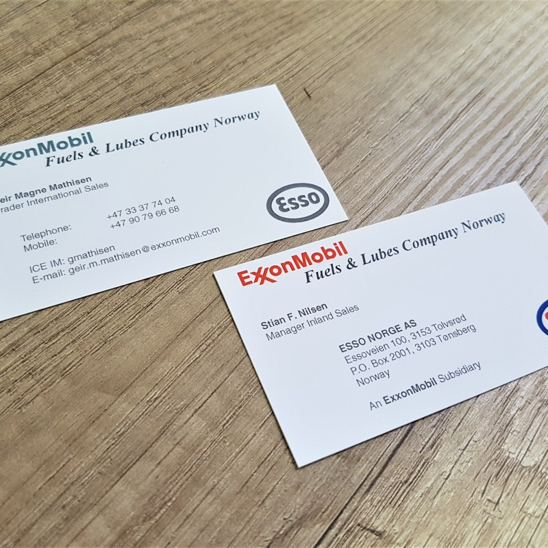 Various exclusive business cards kinetic trade exxon business cards reheart Gallery