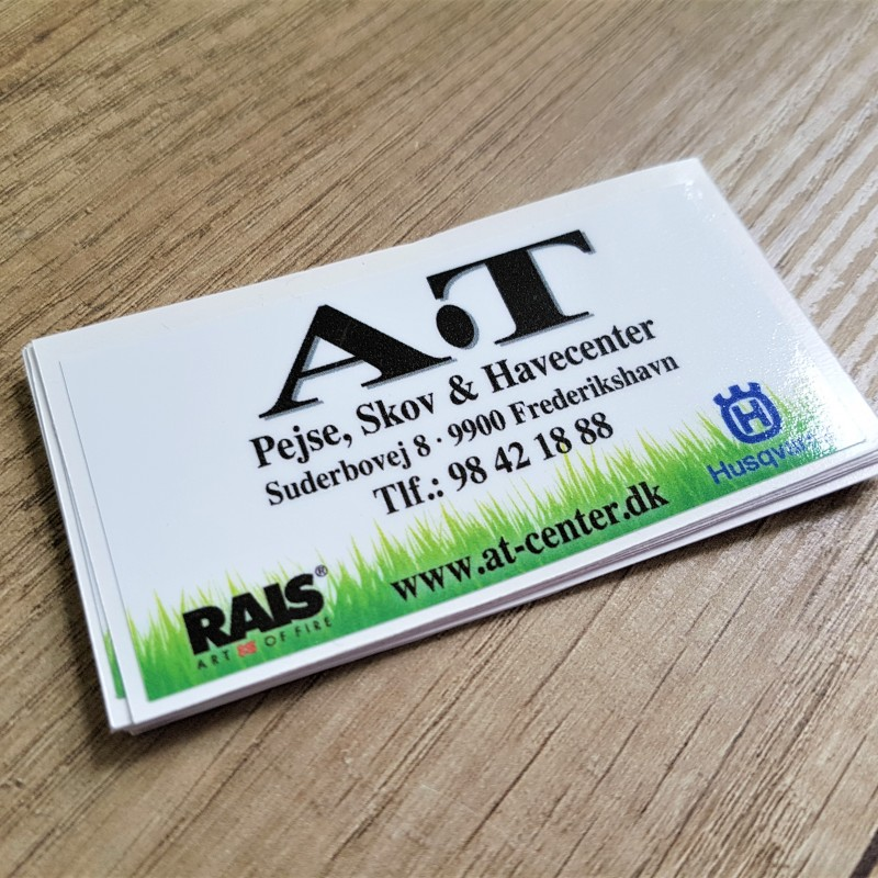 A.T PVC stickers