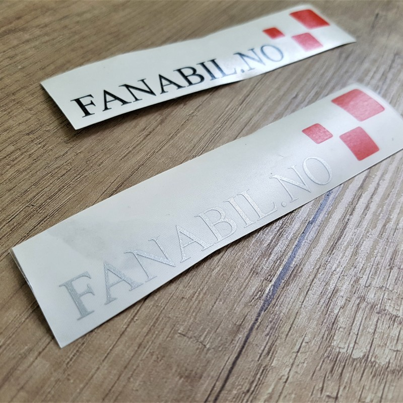 PVC cast foil, 1440 dpi printed Size: 12.6 x 2.6 cm