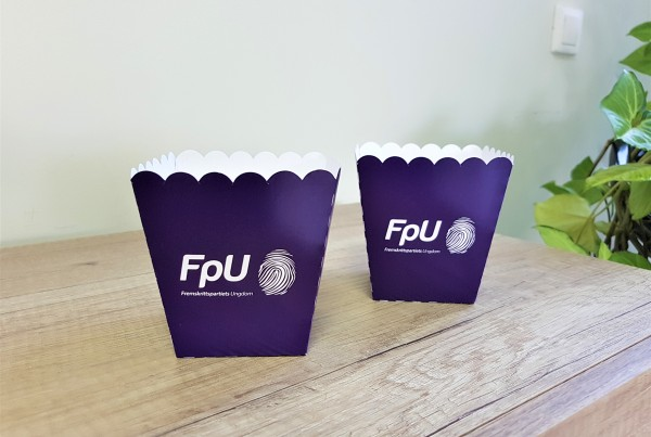 FpU popcorn boxes