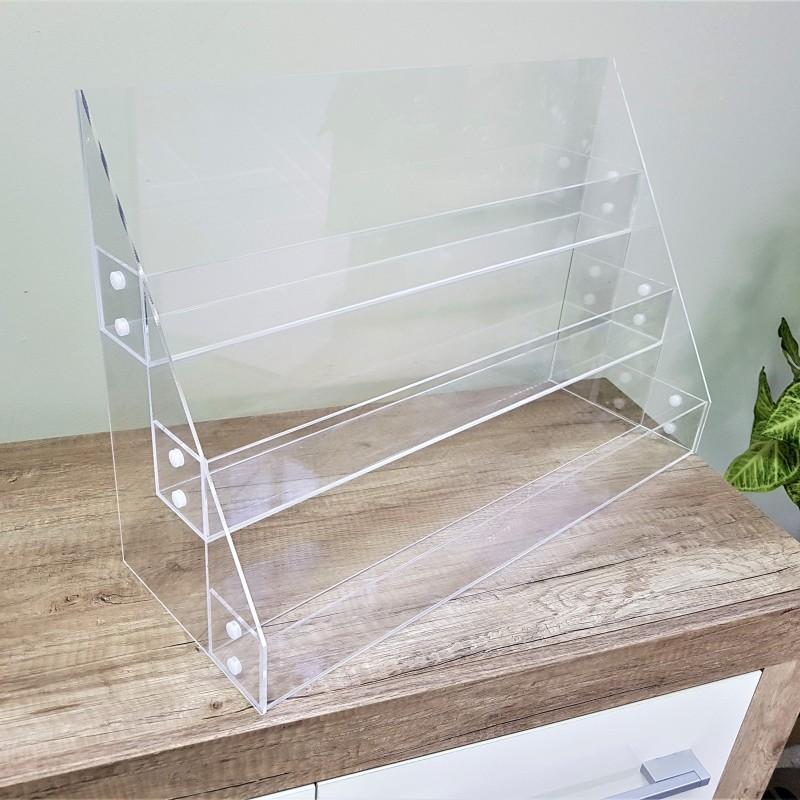 Acrylic stand 37 x 55 x 20 cm. 3mm transparent acryl