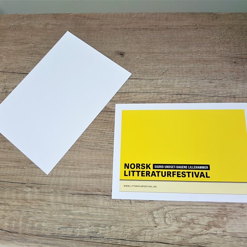 350 gsm matt paper, print 4+0, size: A5