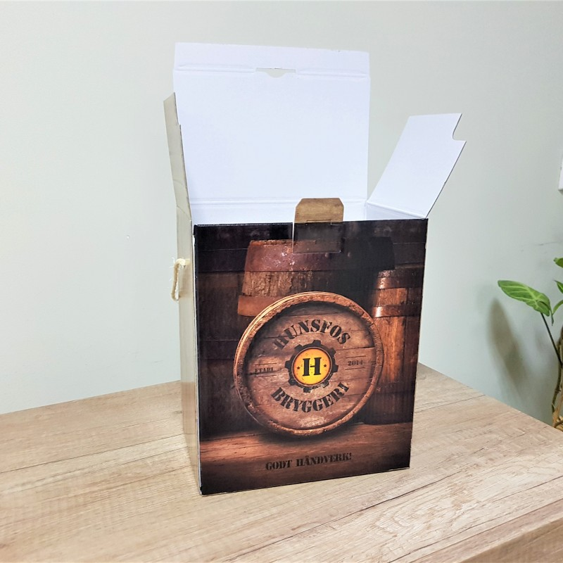 Hunsfos Brewery beer boxes