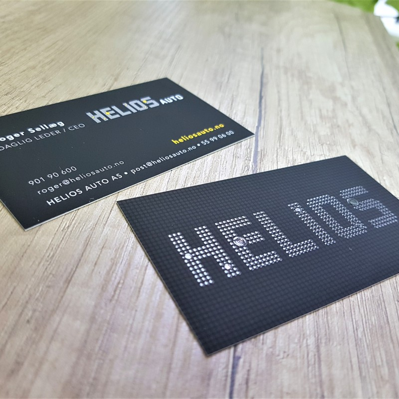 350 gsm paper, 4+4 printed, matt lamination and partial UV varnishing, 9 x 5 cm